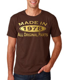 Made In 1978 All Original Parts Gold Mens T Shirt-Gildan-Daataadirect.co.uk