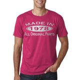 Made In 1978 All Original Parts Silver Mens T Shirt-Gildan-Daataadirect.co.uk