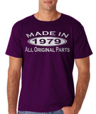 Made In 1979 All Original Parts Silver Mens T Shirt-Gildan-Daataadirect.co.uk