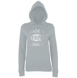 Made In 1979 All Orignal Parts Women Hoodies Silver-AWD-Daataadirect.co.uk