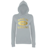 Made In 1980 All Orignal Parts Women Hoodies Gold-AWD-Daataadirect.co.uk