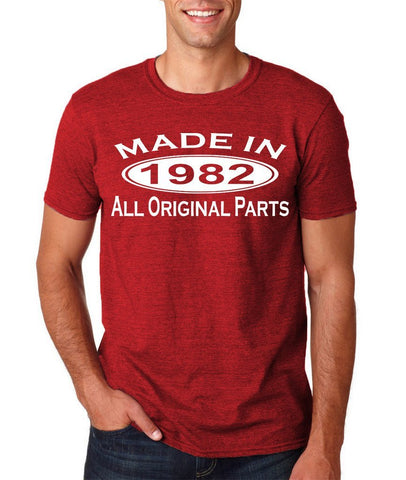 Made In 1982 All Original Parts White Mens T Shirt-Gildan-Daataadirect.co.uk