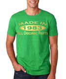 Made In 1983 All Original Parts Gold Mens T Shirt-Gildan-Daataadirect.co.uk