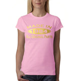 Made In 1984 All Original Parts Gold Womens T Shirt-Gildan-Daataadirect.co.uk