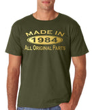 Made In 1984 All Original Parts Gold Mens T Shirt-Gildan-Daataadirect.co.uk