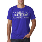 Made In 1984 All Original Parts silver Mens T Shirt-Gildan-Daataadirect.co.uk
