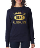 Made in 1984 All Original Parts Women Sweat Shirts Gold-ANVIL-Daataadirect.co.uk