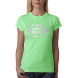 Made In 1985 All Original Parts Silver Womens T Shirt-Gildan-Daataadirect.co.uk