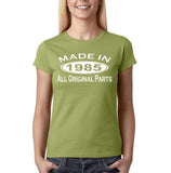 Made In 1985 All Original Parts White Womens T Shirt-Gildan-Daataadirect.co.uk