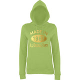 Made In 1987 All Orignal Parts Women Hoodies Gold-AWD-Daataadirect.co.uk