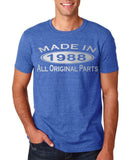 Made In 1988 All Original Parts Silver Mens T Shirt-Gildan-Daataadirect.co.uk