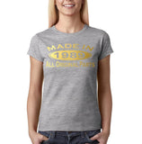 Made In 1989 All Original Parts Gold Womens T Shirt-Gildan-Daataadirect.co.uk
