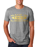 Made In 1989 All Original Parts Gold Mens T Shirt-Gildan-Daataadirect.co.uk