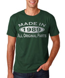 Made In 1989 All Original Parts Silver Mens T Shirt-Gildan-Daataadirect.co.uk