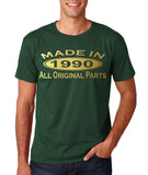 Made In 1990 All Original Parts Gold Mens T Shirt-Gildan-Daataadirect.co.uk