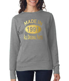 Made in 1991 All Original Parts Women Sweat Shirts Gold-ANVIL-Daataadirect.co.uk