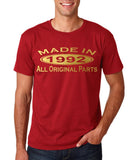 Made In 1992 All Original Parts Gold Mens T Shirt-Gildan-Daataadirect.co.uk