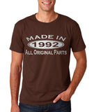 Made In 1992 All Original Parts Silver Mens T Shirt-Gildan-Daataadirect.co.uk