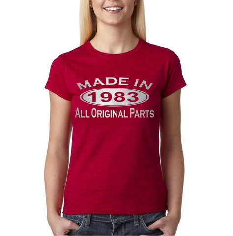 Made In 1993 All Original Parts Silver Womens T Shirt-Gildan-Daataadirect.co.uk