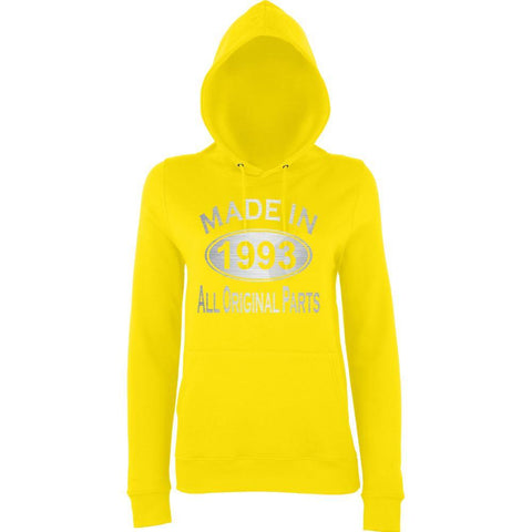 Made In 1993 All Orignal Parts Women Hoodies Silver-AWD-Daataadirect.co.uk