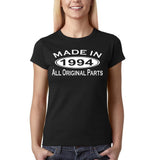 Made In 1994 All Original Parts White Womens T Shirt-Gildan-Daataadirect.co.uk
