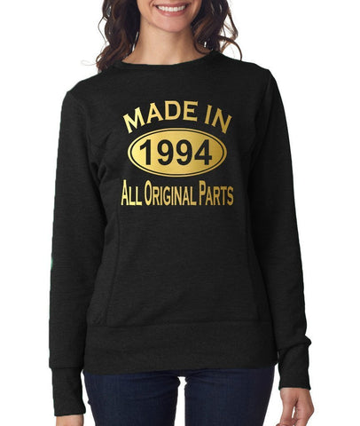 Made in 1994 All Original Parts Women Sweat Shirts Gold-ANVIL-Daataadirect.co.uk