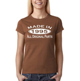 Made In 1995 All Original Parts White Womens T Shirt-Gildan-Daataadirect.co.uk