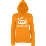 Made In 1995 All Orignal Parts Women Hoodies White-AWD-Daataadirect.co.uk