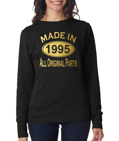 Made in 1995 All Original Parts Women Sweat Shirts Gold-ANVIL-Daataadirect.co.uk