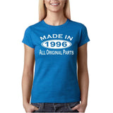 Made In 1996 All Original Parts White Womens T Shirt-Gildan-Daataadirect.co.uk