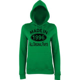 Made In 1996 All Orignal Parts Women Hoodies Black-AWD-Daataadirect.co.uk