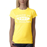Made In 1997 All Original Parts White Womens T Shirt-Gildan-Daataadirect.co.uk