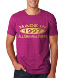 Made In 1997 All Original Parts Gold Mens T Shirt-Gildan-Daataadirect.co.uk