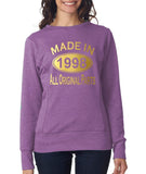 Made in 1998 All Original Parts Women Sweat Shirts Gold-ANVIL-Daataadirect.co.uk