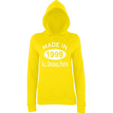 Made In 1999 All Orignal Parts Women Hoodies White-AWD-Daataadirect.co.uk