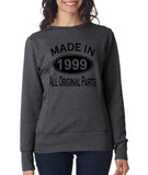 Made in 1999 All Original Parts Women Sweat Shirts Black-ANVIL-Daataadirect.co.uk