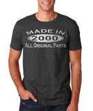 Made In 2000 All Original Parts Silver Mens T Shirt-Gildan-Daataadirect.co.uk