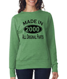 Made in 2000 All Original Parts Women Sweat Shirts Black-ANVIL-Daataadirect.co.uk