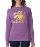Made in 2000 All Original Parts Women Sweat Shirts Gold-ANVIL-Daataadirect.co.uk