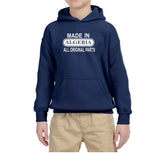 Made in Algeria All Original Parts Kids Hoodie White-Gildan-Daataadirect.co.uk
