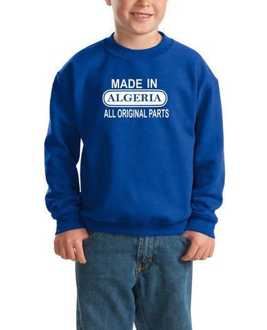 Made in Algeria All Orignal Parts Kids SweatShirt White-Gildan-Daataadirect.co.uk