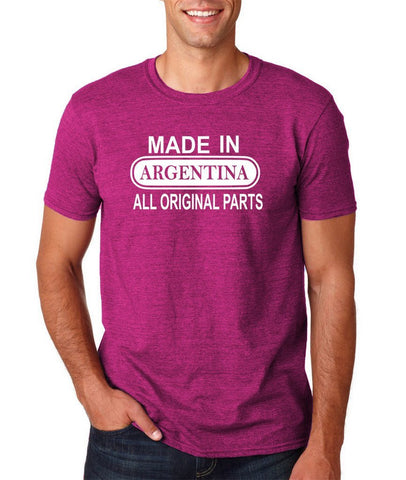 Made In Argentina All Orignal Parts Men T Shirts White-Gildan-Daataadirect.co.uk