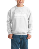 Made in Bosnia and Herzegovina All Original Parts Kids SweatShirt White-Gildan-Daataadirect.co.uk