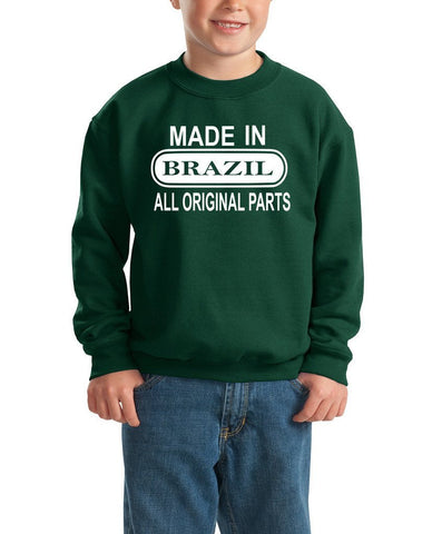 Made in Brazil All Orignal Parts Kids SweatShirt White-Gildan-Daataadirect.co.uk