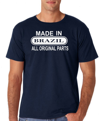 Made In Brazil All Orignal Parts Men T Shirts White-Gildan-Daataadirect.co.uk