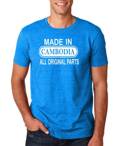 Made In Cambodia All Orignal Parts Men T Shirt White-Gildan-Daataadirect.co.uk