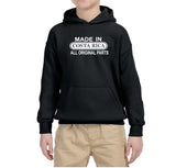 Made in Costa Rica All Original Parts Kids Hoodie White-Gildan-Daataadirect.co.uk