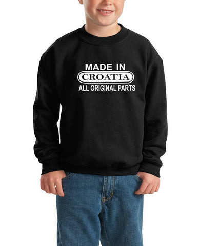 Made in Costa Rica All Original Parts Kids SweatShirt White-Gildan-Daataadirect.co.uk