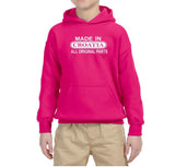 Made in Croatia All Original Parts Kids Hoodie White-Gildan-Daataadirect.co.uk