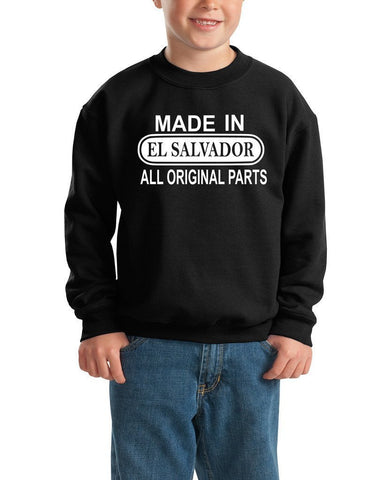 Made in El salvador All Original Parts Kids SweatShirt White-Gildan-Daataadirect.co.uk